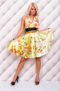 Sommerliches Neckholder Kleid Mit Blumenmuster In GrÜn/orange - Vorschau 2