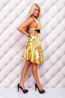 Sommerliches Neckholder Kleid Mit Blumenmuster In GrÜn/orange - Vorschau 3