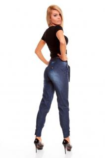 Trendy Jeans Hose In Blau Denim - Vorschau 3