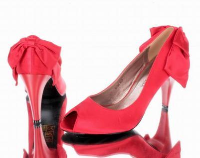Designer Designer Designer Damen Peeptoe Pumps Rot c1c98c