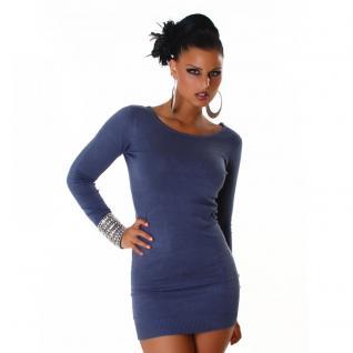 Long Pullover In Blau - Vorschau 1