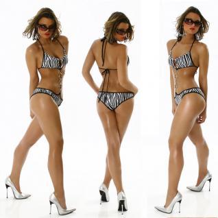 Trendy Monokini Mit Zebra Print - Vorschau 1