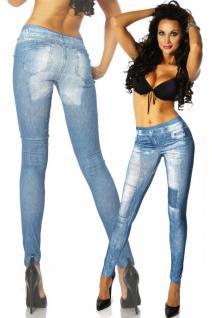 Jeans-print-leggings Blue - Vorschau 2