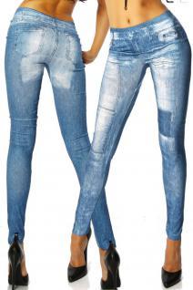 Jeans-print-leggings Blue - Vorschau 3