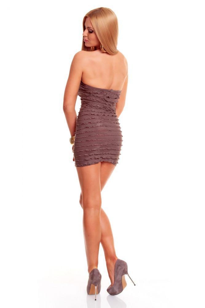 verfÜhrerisches bandeau kleid in braun - kaufen bei click