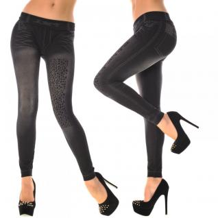 TRENDIGE LEGGINGS IN DUNKEL GRAU