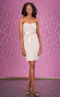 Exklusives Bandeau Minikleid Push Up Kleid Beige - Kaufen ...