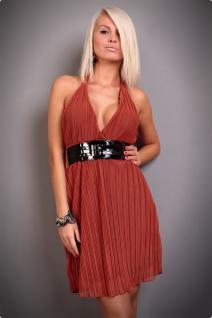 Atemberaubendes Neckholder Kleid Mit TaillengÜrtel In Rost - Vorschau 1