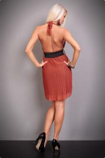 Atemberaubendes Neckholder Kleid Mit TaillengÜrtel In Rost - Vorschau 3