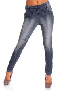 STYLISCHE JEANS HOSE IN HELL BLAU