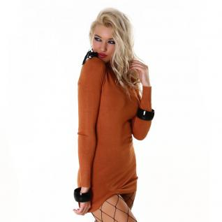 Long Pullover In Orange - Vorschau 3
