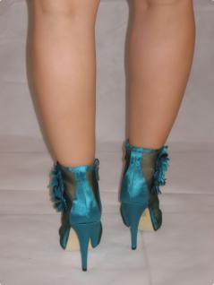 Sexy High-heels Im Netz Mit GlamourÖsen Blume Und Seitlichem Reißverschluss In GrÖn - Vorschau 3