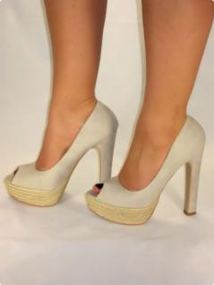 EXCLUSIVE PEEPTOES HIGH-HEELS MIT RIEMCHEN IN GRAU
