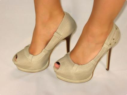 SUPER SEXY PEEPTOES HIGH-HEELS IN BEIGE