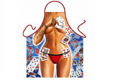 Schürze Strip Poker Girl 56 x 73 cm
