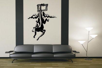 wandtattoo affe g nstig sicher kaufen bei yatego. Black Bedroom Furniture Sets. Home Design Ideas
