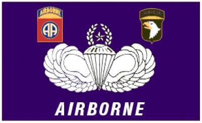 Flagge Fahne Airborne Parachute 90 x 150 cm - Vorschau