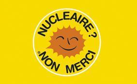 Flagge Fahne Atomkraft Nein Danke! französisch