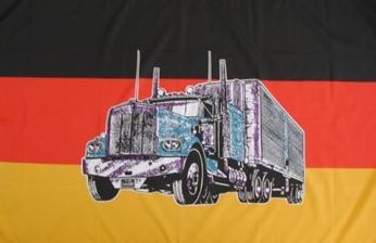 Flagge Fahne Deutschland Truck 90 x 150 cm
