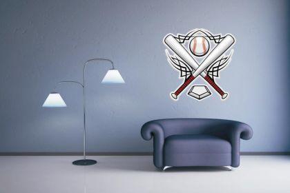 Wandtattoo Baseball Emblem