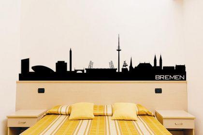 Wandtattoo Bremen Skyline