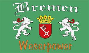 Flagge Fahne Bremen Weserpower II 90 x 150 cm - Vorschau