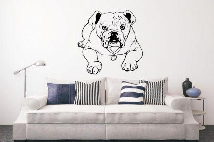Wandtattoo Bulldogge liegend