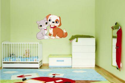 Wandtattoo Katze und Hund - Vorschau 1