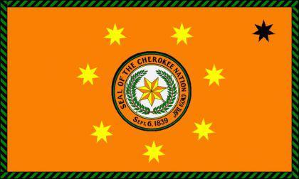 Flagge Fahne Cherokee Nations 90 x 150 cm - Vorschau