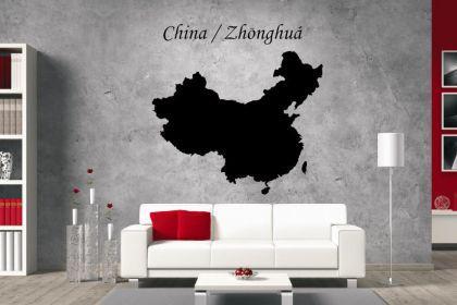 Wandtattoo China Karte