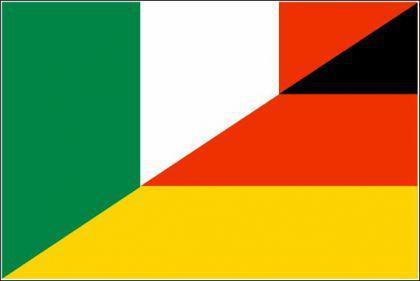 Flagge Fahne Deutschland - Italien F. 90 x 150 cm