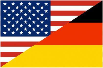 Flagge Fahne Deutschland - USA Freund 90 x 150 cm