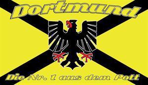 Flagge Fahne Dortmund Kreuz 90 x 150 cm