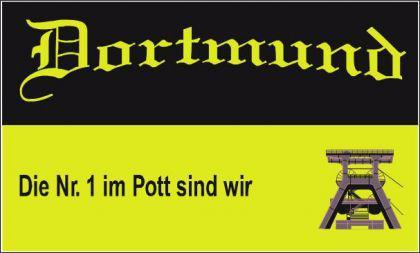 Flagge Fahne Dortmund Nr. 1 im Pott 90 x 150 cm - Vorschau
