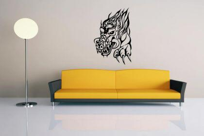 Wandtattoo Dragon flame