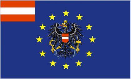 Flagge Fahne Europa Österreich Adler 90 x 150 cm