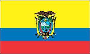 Flagge Fahne Ecuador Wappen 90 x 150 cm