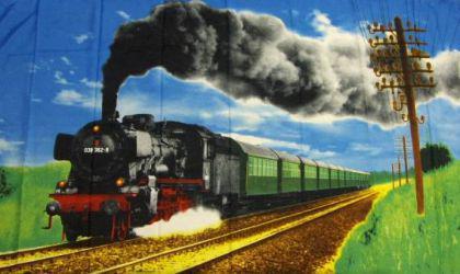 Flagge Fahne Eisenbahn 90 x 150 cm