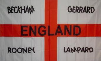 Flagge Fahne England Beckham & Co 90 x 150 cm - Vorschau