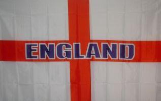Flagge Fahne England Schrift gerade 90 x 150 cm