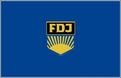 Flagge Fahne FDJ 90 x 150 cm - Vorschau
