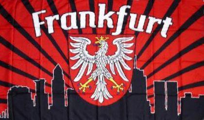 Flagge Fahne Frankfurt Fan Skyline 90 x 150 cm