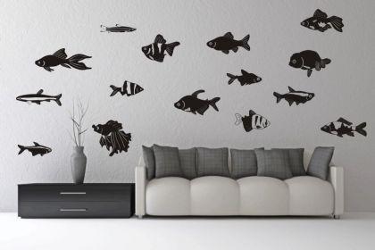 Wandtattoo Fische - Set Motiv Nr. 2