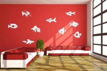 Wandtattoo Fische - Set Motiv Nr. 3 - Vorschau 1