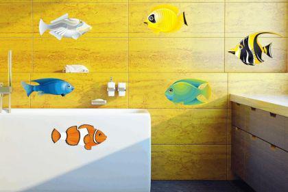 Wandtattoo Fische-Set Color Motiv Nr. 1