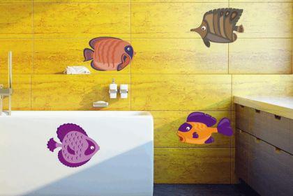 Wandtattoo Fische-Set Color Motiv Nr. 2