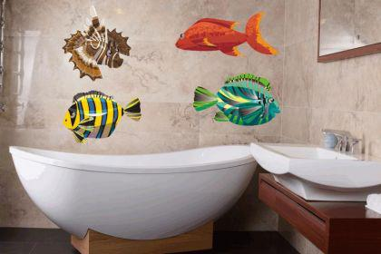 Wandtattoo Fische-Set Color Motiv Nr. 6