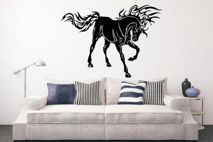 Wandtattoo Flamed Mustang