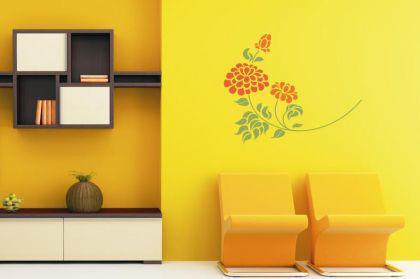 Wandtattoo Flower Motiv Nr. 1 zweifarbig
