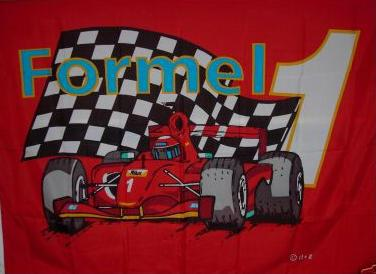 Flagge Fahne Formel 1 rot 90 x 150 cm